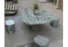 Patio Stone Top Table
