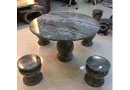 Round Stone Top Patio Table