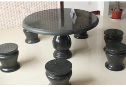 36 Inch Round Stone Table
