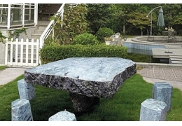 Stone Table Top Outdoor