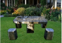 Stone Top Table Patio Furniture