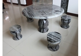 Stone Top Round Table