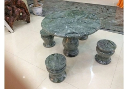 Stone Top Round Patio Table