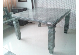 Stone Top Square Dining Table