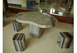 Stone Top Table Patio