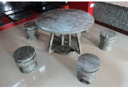 Round Granite Top Table