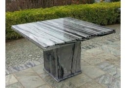 Square Stone Top Coffee Table