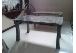 Stone Top Rectangular Dining Table
