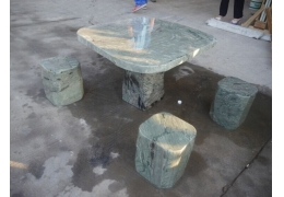 Granite Top Patio Table and