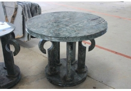Round Cocktail Stone Top Table